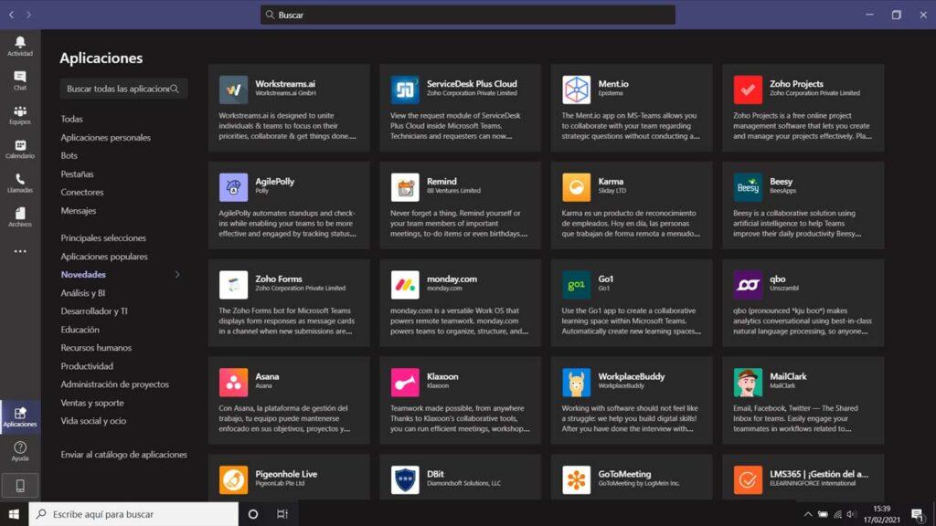Aplicaciones Integradas Microsoft Teams