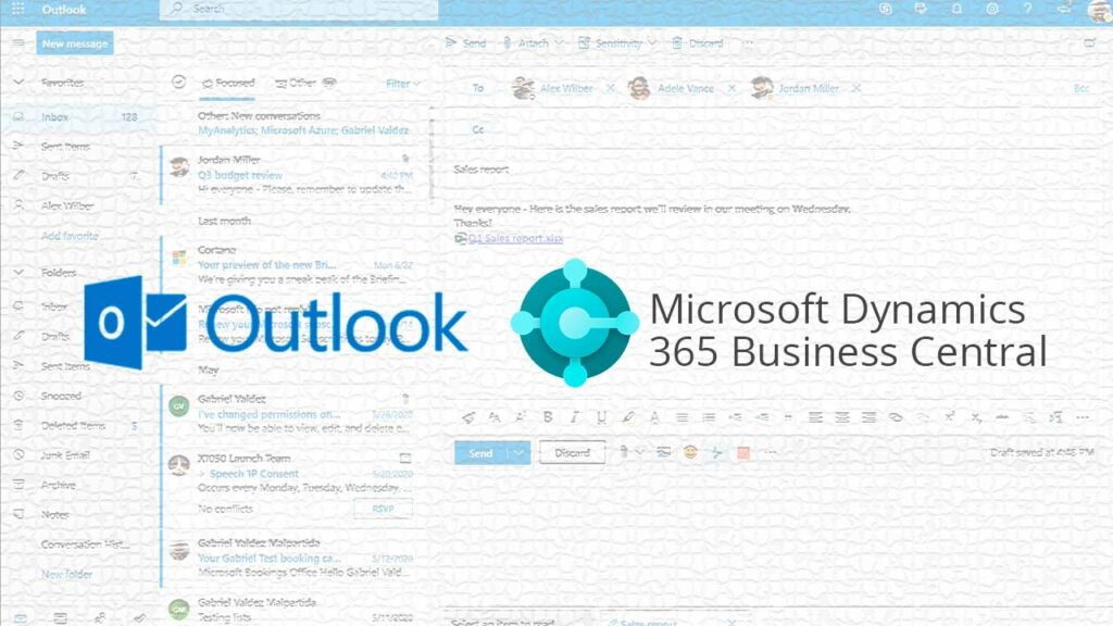 Outlook y 365 Business Central